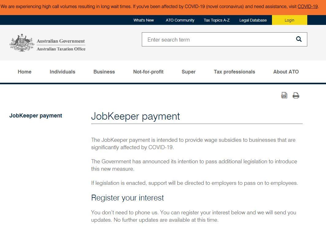 jobkeeper patment